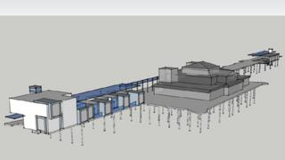 The plan for Colwyn Bay pier