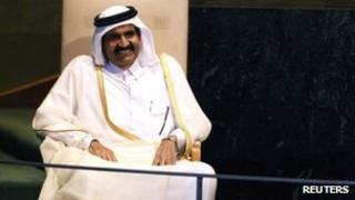 Sheikh Hamad bin Khalifa al-Thani of Qatar, September 2011
