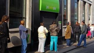 Queue outside a Jobcentre Plus