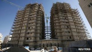 Jewish settlement near Jerusalem known to Israelis as Har Homa and to Palestinians as Jabal Abu Ghneim , 2 Nov 2011