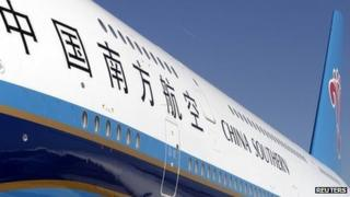 The first Airbus A380 delivered to China Southern Airlines