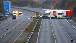 M5 crash scene