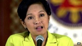File image of Gloria Arroyo from May 2001