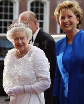 Queen Elizabeth and Mary McAleese