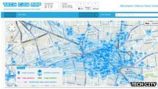Tech City map