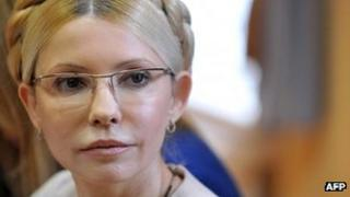 Yulia Tymoshenko in court for her sentence, 11 October