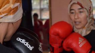 Women boxers in Kabul
