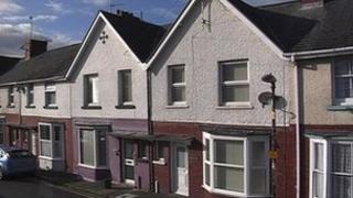 Houses on Glyndwr Road, Aberystwyth