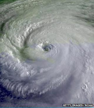 Satellite image of Hurricane Katrina, August 2005 (Image: Getty Images/NOAA)