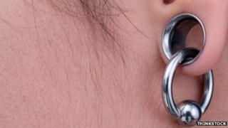 Ear lobe stretching