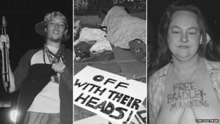 The first night of the Occupy Wall Street protest