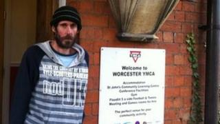 David Smith outside YMCA Worcester