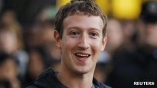 Face book founder Mark Zuckerberg