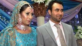 Uzma Naurin and Saif Rehman and their wedding