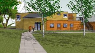 Artist's impression of the Kennel Club Cancer Centre in Newmarket
