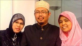 OWC founder Mohamad Ali with his two of his three wives