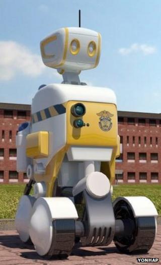 Prison guard robot prototype