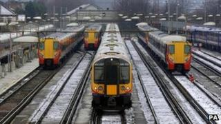 File image of trains at Clapham Junction on 8 February 2007