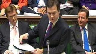 George Osborne delivers his Autumn Statement in the House of Commons