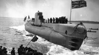 Launch of HMS Perseus in May 1929
