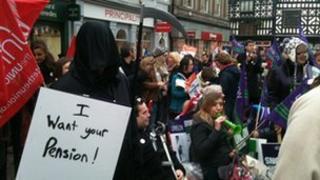 Rally in Shrewsbury square