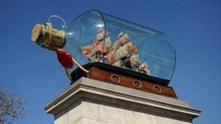Nelson's Ship in a Bottle by Anglo-Nigerian contemporary artist Yinka Shonibare