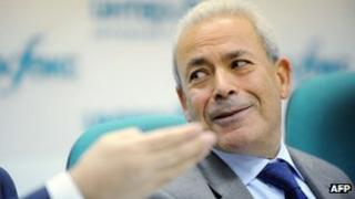 Leader of the exiled Syrian opposition grouping, the Syrian National Council, Burhan Ghalioun, attends a press conference in Moscow, on November 15, 2011