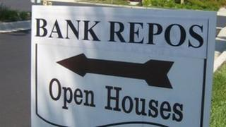 Bank repossession sign