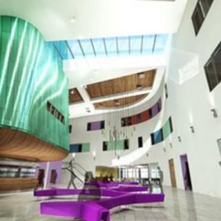 Artist's impression of inside new Inverness College UHI