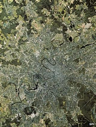 Satellite image of Moscow (Image: Science Photo Library)