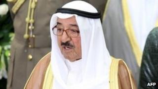 The Emir of Kuwait, Sheikh Sabah al-Ahmed al-Sabah (25 October 2011)