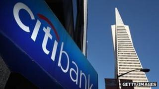 A Citibank sign