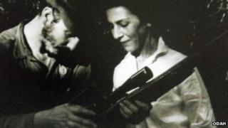 Fidel Castro and Celia Sanchez in 1957