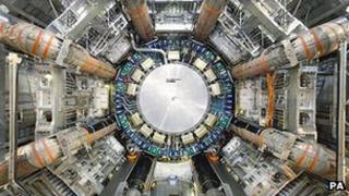 The Large Hadron Collider particle accelerator at CERN