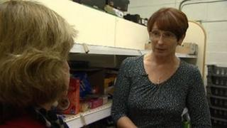 Sue Wall took a pay cut to work for the foodbank