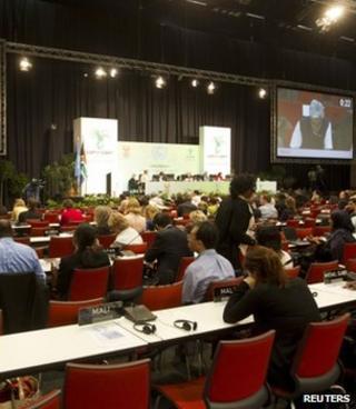 Climate talks plenary hall, Durban (Image: Reuters)
