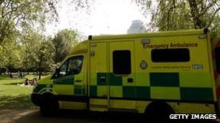 London Ambulance Service vehicle
