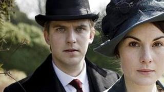 Dan Stevens and Michelle Dockery in Downton Abbey