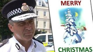 Not the police Christmas card