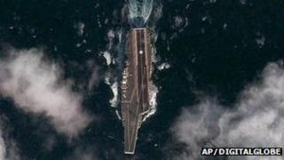 Picture reportedly showing China's aircraft