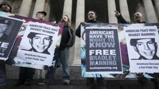 Supporters of Bradley Manning 24 November 2011