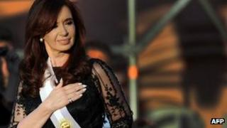 Cristina Fernandez was sworn in for her second term on 10 December 2011