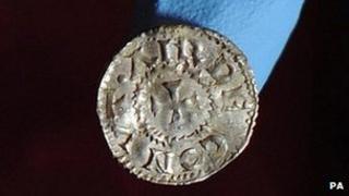Viking silver coin