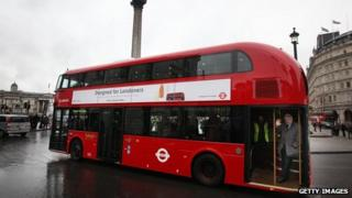 The new Routemaster bus in London