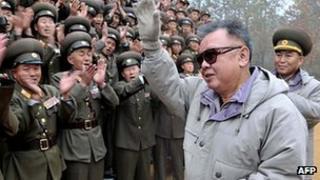 Kim Jong-il on 2 November 2011