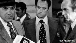 Telly Savalas, Kevin Dobson and Dan Frazer in Kojak