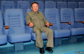 Kim Jong-il in Pyonyang's State Theatre, October 2009