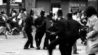 PA file photo dated 10/07/1981 of the Brixton riots