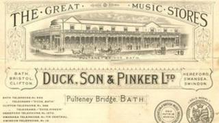 Duck, Son & Pinker bath music shop papers