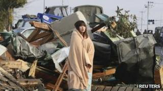 A tsunami survivor in Ishimaki city